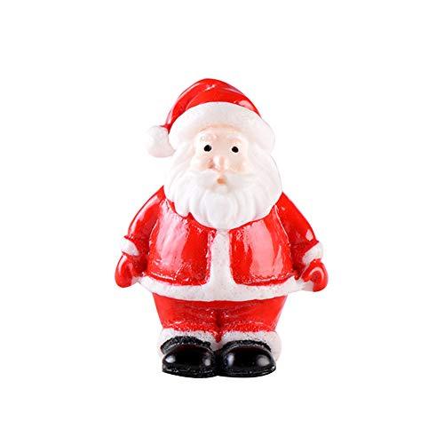 Lsgepavilion Mini Natale Babbo Natale Albero Pupazzo di Neve Figurine DIY Paesaggio Paesaggio Resina Giocattolo Fata Giardino Decor 1 #