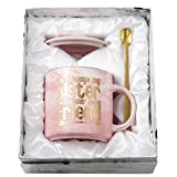 Sister Gifts from Sister Mug - Always My Sister Forever My Friend -Sister Birthday Gift - TOTWAY Pink Marble Ceramic Coffee Cup 11oz