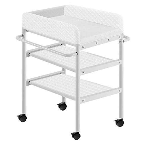 N/Z Table d'équipement de Vie Table Infantile Unité de Baignoire pour bébé Station de Couches Portable Enfants Nursery Organizer Rangement Commode Blanc (Couleur: Blanc)