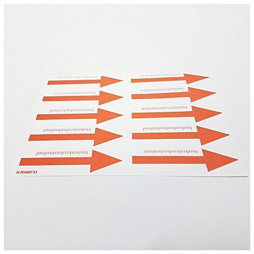 Dönges Markierungspfeile mit Skala, Aufkleber, rot, 60 mm Spurensicherung