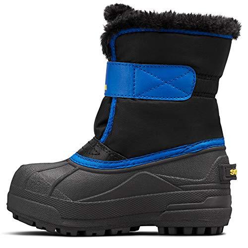 Sorel - Youth Snow Commander Snow Boots for Kids, Black/Super Blue, 11 M US