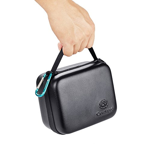 for Bose SoundLink Revolve Wireless Bluetooth Speaker Portable Hard Carrying Case Travel Bag- Fits The Charger Cable (Black)