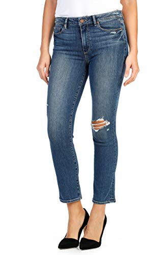 PAIGE, Women's Jacqueline High Waist Ankle Straight Leg Jeans, Ramona Destructed, Size 23