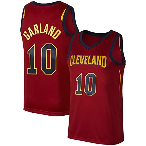 YDJY Hombres Garland al aire libre baloncesto Jersey Cavalier secado rápido camisetas #10 rojo ropa deportiva