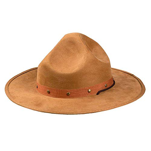 Boland-Hat 59 33000  Sombrero Ranger, vaquero, safari, explorador, visor, sol, Sheriff, fiesta temtica, carnaval, color marrn