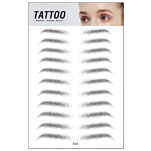 YZCH 4D Hair-Like Authentic Eyebrows,Eyebrows Stickers,Waterproof Long Lasting for Women Lady