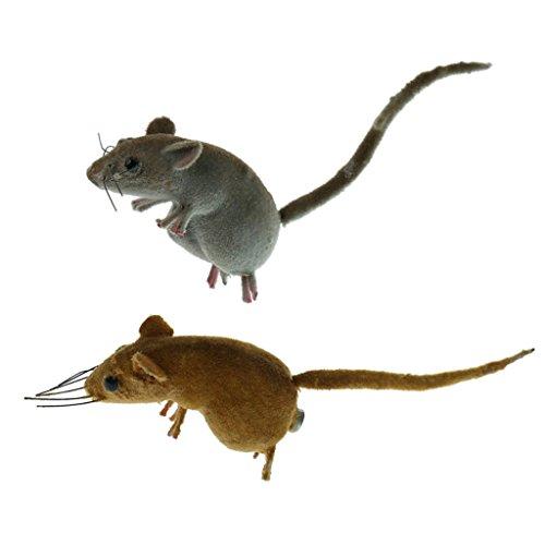 F Fityle Realistische Maus - 2pcs