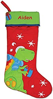 DIBSIES Personalization Station Personalized Quilted Christmas Stocking (Dinosaur)