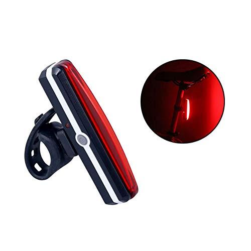 Cutowin Luz Trasera para Bicicleta Recargable, Resistente al Agua, LED, luz de Advertencia Nocturna, Seguridad, Ciclismo, Bicicleta MTB luz Trasera