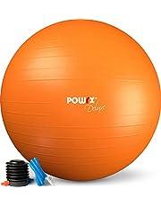 POWRX Gym Bal incl. Balpomp en Workout I Zitbal Pilates Yoga Bal Anti-Burst Verschillende maten 55, 65, 75, 85, 95 cm en kleuren I Bureau en Balans Stoel