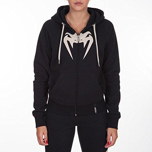 Venum Damen Sweatshirt Infinity, Schwarz/Weiss Logo, X-Small