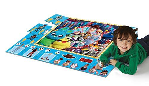 Clementoni- Sapientino Gigante Interattivo-Disney Toy Story 4, Tappeto Puzzle, Multicolore, 16234