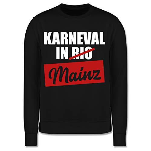 Shirtracer Karneval & Fasching Kinder - Karneval in Mainz - 128 (7/8 Jahre) - Schwarz - Pullover - JH030K - Kinder Pullover