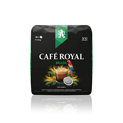 Café Royal Single Origin Brasil 360 kompatible Kaffeepads für Senseo®*, Intensität 5/10, 10er Pack (10 x 36 Kaffee-Pads)