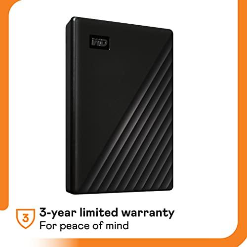 WD 5TB My Passport Portable External Hard Drive HDD, USB 3.0, USB 2.0 Compatible, Black - WDBPKJ0050BBK-WESN