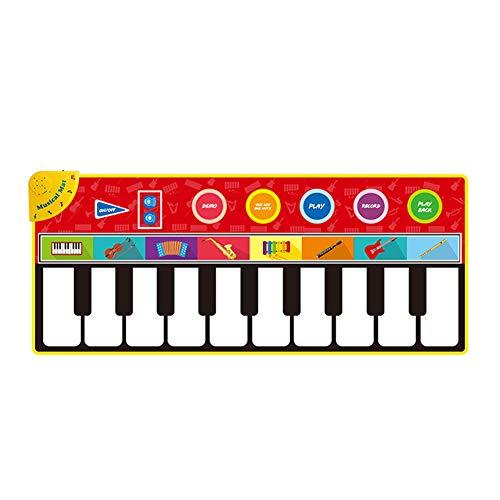 Wly Piano Mat Touch Play Keyboard Musical Mat Toys 43 x 7 Pulgadas Kids Music Teclados Diversión Aprendizaje Juguetes Educativos,B
