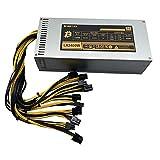 lefeindgdi Minería de fuente de alimentación minera de 1600 a 3000W para ETH Rig Ethereum Miner S9 S7 L3+ para el mecanizado de minería de Bitcoin