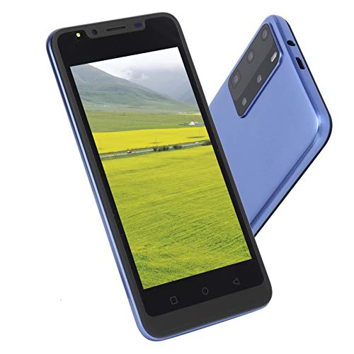 gostcai Teléfono Inteligente con Pantalla de 5.0 Pulgadas, teléfono con reconocimiento Facial, Doble Tarjeta de Doble Modo de Espera, teléfono móvil HD de Pantalla Completa, cámara de 2MP(Azul)