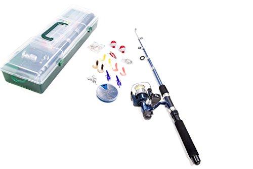 Jocca 3325 - Set da Pesca, Unisex, per Adulti, 180 cm, Colore: Blu