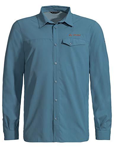 VAUDE Herren Men's Rosemoor LS Shirt Hemd-Bluse, Blue Gray, S