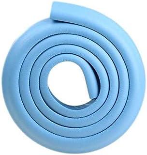 حاميات واقية لحواف الطاولة المدببة لحماية الطفل بشكل حرف L مبطنة تضم شريط ماص للصدمات بطول 2 متر، لون ازرق