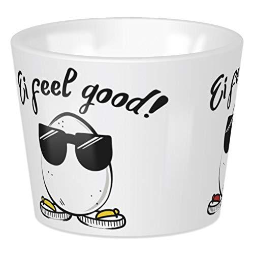 Sheepworld, Gruss und Co - 45381 - Eierbecher, Schaf, Ei feel good!, 4cm x 5cm, Porzellan, spülmaschinengeeignet