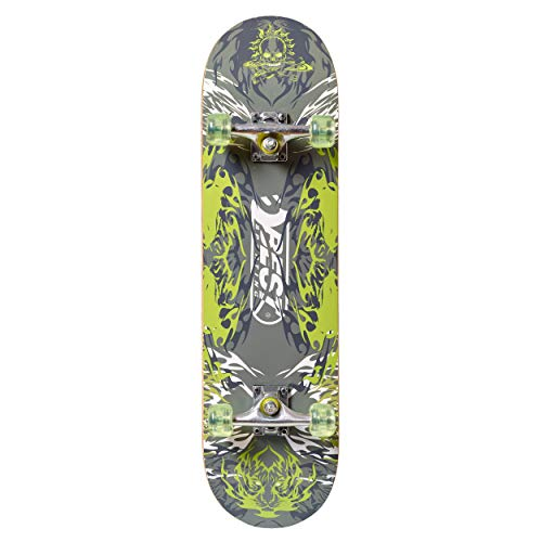 Best Sporting Unisex Jugend Skateboard, Green Ghost, One Size