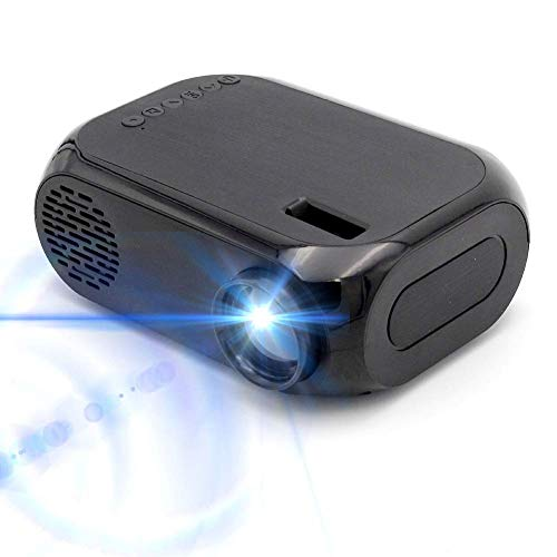 Mini projector, draagbare videoprojector, Full HD 1080P scherm, thuisbioscoop-filmpprojector, multimedia-projector met meerdere aansluitingen, voor het spelen van video, tv-serie, foto's, vervanging, games zwart