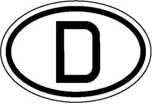 3769. Informatiebord voor motorvoertuigen, internationale kentekenplaten voor Duitsland, D-zachte PVC-folie, zelfklevend, bedrukt formaat 19,00 cm x 13,00 cm