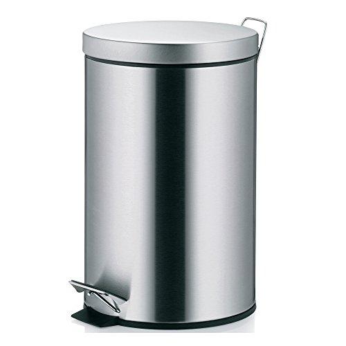 Kela 10925 poubelle à pédale 12 litres, acier inoxydable brillant, 'Nila'
