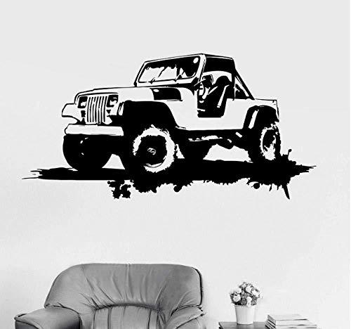 Wandaufkleber Idee Garage für Militärfahrzeuge Kreatives Vinyl Wohnkultur Wandkunst Licht Leben schönes Wandbild 115x57cm