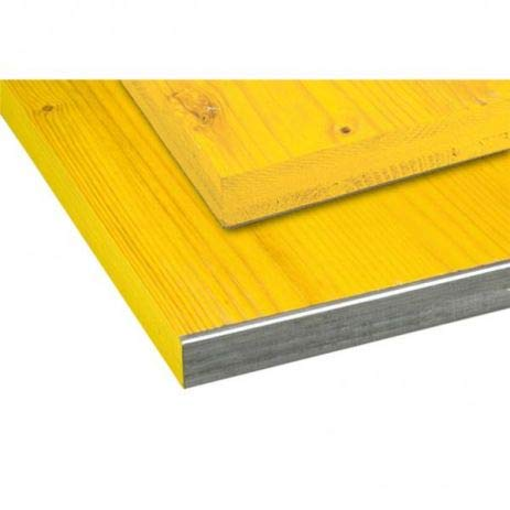 Schalungsplatte - Verleimte 3-Schicht-Platte Aus Fichte Mit Verzinktem Kantschutzwinkel (C-Profil) - Holzplatte 1,5 x 0,5 m