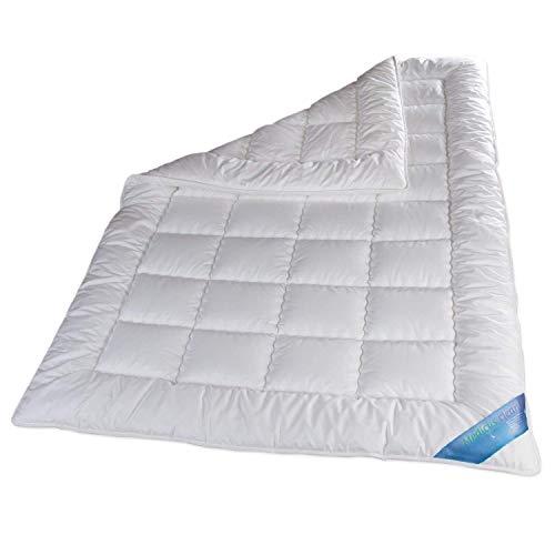 Schlafmond Medicus Clean Allergiker Ganzjahresdecke 135 x 200 cm, wärmeregulierende Decke aus Baumwolle, Bettdecke bis 95 Grad waschbar, Made in Germany