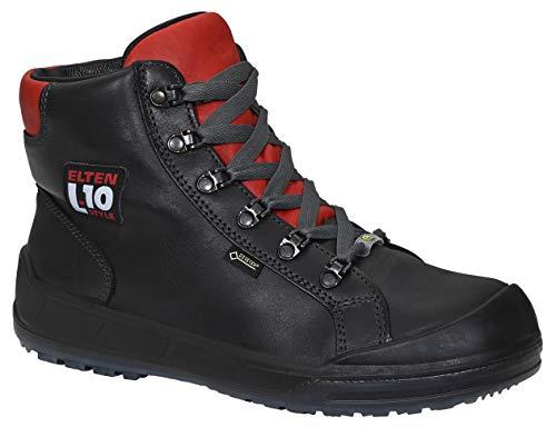 ELTEN veiligheidsschoenen DELUXE GTX Mid ESD S3 CI, heren, lederen schoen, robuust, zwart, stalen kap- maat 43