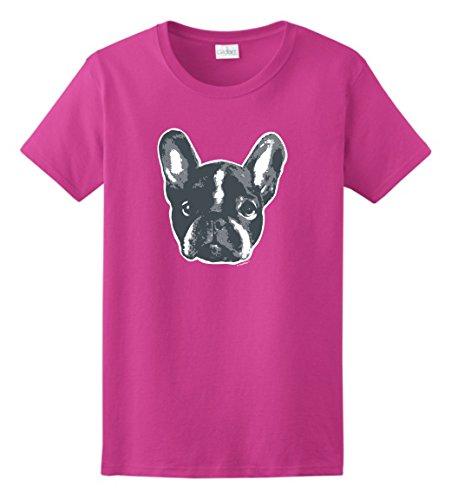 ThisWear French Bulldog Calendar French Bulldog Gifts Frenchie Face Funny Bulldog Ladies T-Shirt XL Hlcna