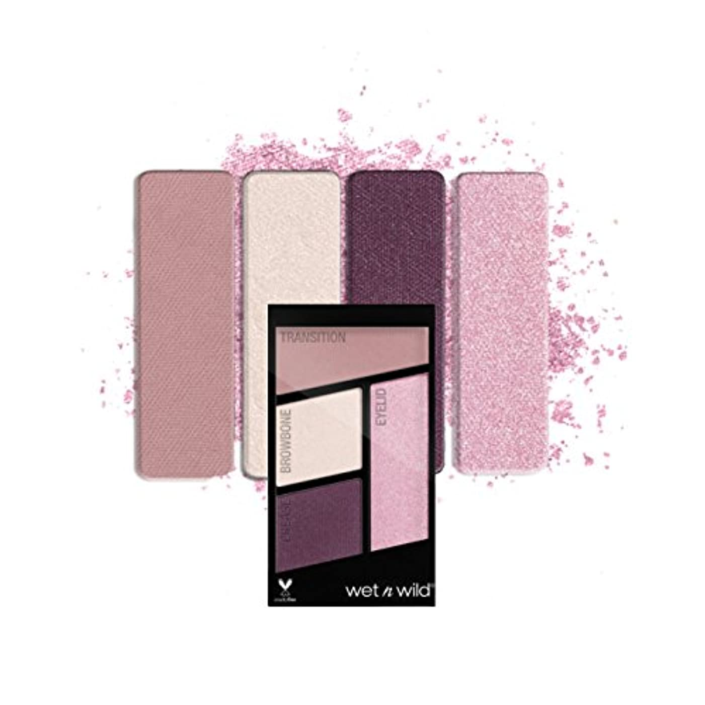 有効に対応するセメント(3 Pack) WET N WILD Color Icon Eyeshadow Quad - Petalette (並行輸入品)