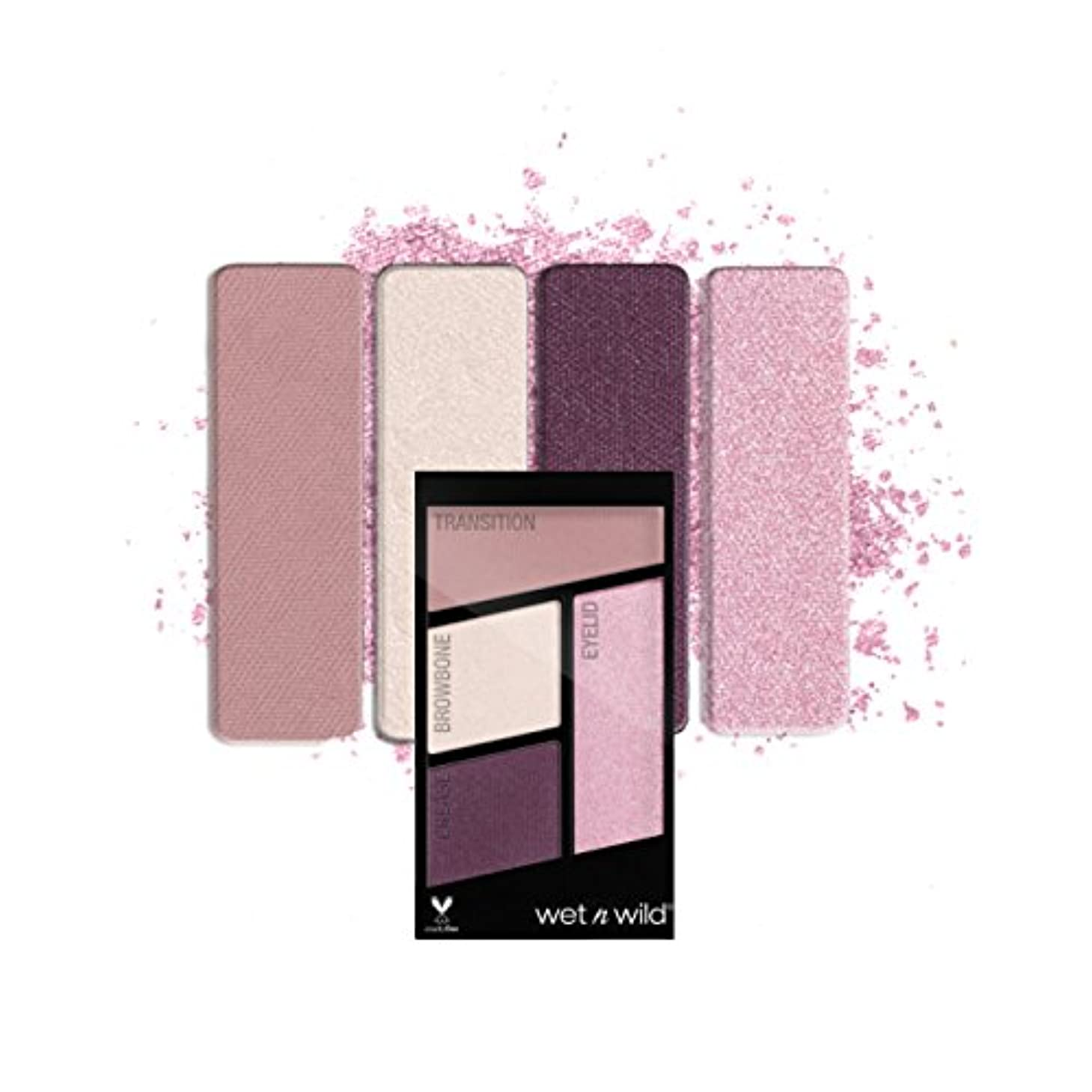 雨の教育大気(6 Pack) WET N WILD Color Icon Eyeshadow Quad - Petalette (並行輸入品)