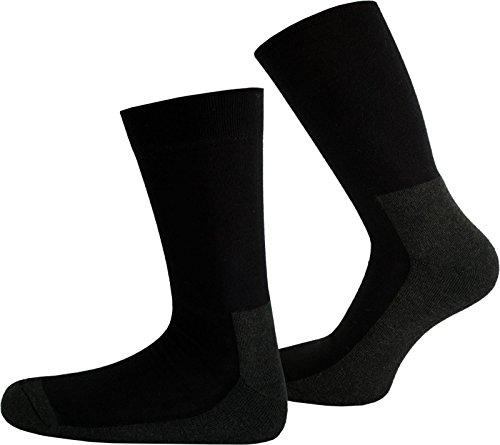 normani 2 Paar Antibakterielle X-Static Socken mit Silberfäden speziell gegen Schweißfüße mit Anti-GERUCHS-Funktion Größe 39/42