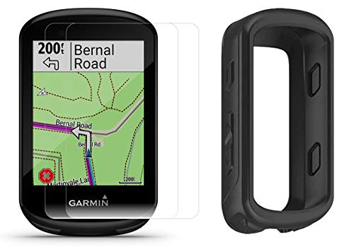 Garmin Edge 830 Cycle GPS Bundle | +Silicone Case & HD Tempered Glass Screen Protectors (x2) | Touchscreen, Navigation, TrainingPeaks, VO2, Incident Detection | Bike Computer (Black)