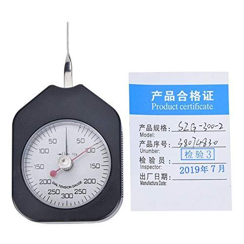 Medidor de tensión de esfera de aguja doble, medidor de tensión, medidor de tensión de esfera, medidor de fuerza de gramo, tensiómetro, herramienta de medición de plástico(SZG-300-2)