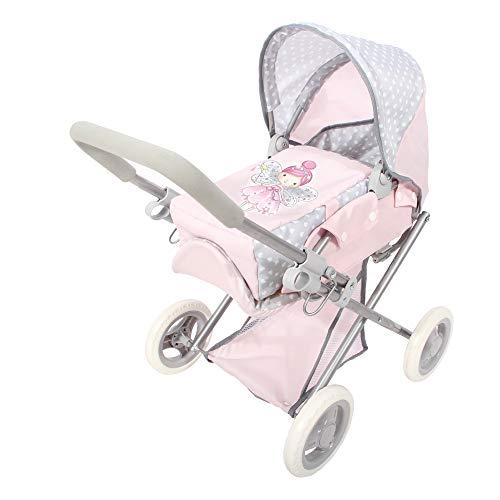 ColorBaby - Cochecito de muñecas plegable 3 en 1 Baby Hadas, Rosa...