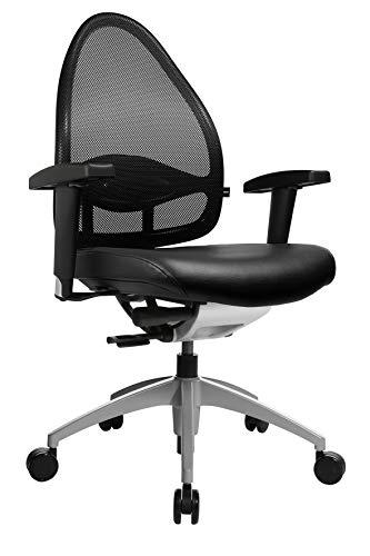 Topstar Open Base 10, Design- und Komfort-Drehstuhl, Bürostuhl, Schreibtischstuhl, inkl. Armlehnen, schwarz