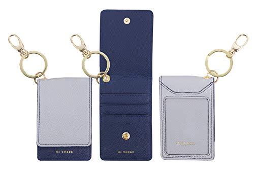 Cute Women's Keychain Wallet, Vegan Leather ID Case Accessory, Sim Minimalist Travel...