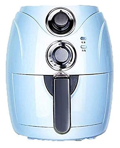 SUCICI 2.5L Automatic Fryer Air Fry Fries Machine Household Mini Air Fryer Fully Automatic Intelligent No Fuel Electric Deep Fryer Oven UK Light Blue