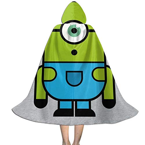 NUJSHF Grüner Minion Mike Vazovsky Despicable Me Monsters Inc Unisex Kinder Kapuzenumhang Cape Halloween Weihnachten Party Dekoration Rolle Cosplay Kostüme Outwear