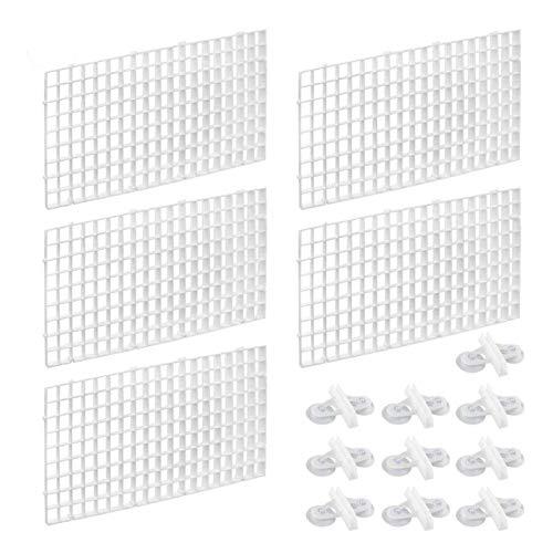 XIAOFANG Trenngitter für Aquarien, Trenngitter mit 20 Saugnäpfen, 10 Stück