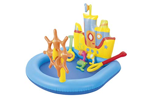 H2OGo! Tug Boat Inflatable Kiddie Pool   Blow Up Pool Summer Toy for Outdoor Family Fun   Kids Pool and Swimming Play Set