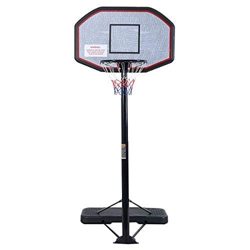 "Rakon Height Adjustable Portable Basketball Hoop & Stand System, 43"" Backboard"
