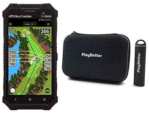 %12 OFF! SkyCaddie SX500 Power Bundle | +PlayBetter Portable Charger & Protective Hard Case | Rugged...