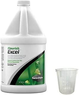 Seachem Flourish Excel, 2 Liter w/ 50 ml Measuring Cup Bundle